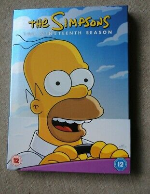 The Simpsons Season 19 DVD Region 2 Rated 12, 4 disc set with special features