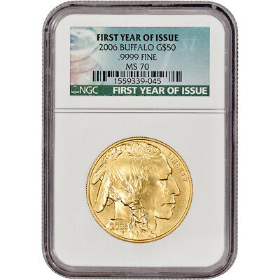 2006 American Gold Buffalo (1 oz) $50 - NGC MS70 - First Year of Issue