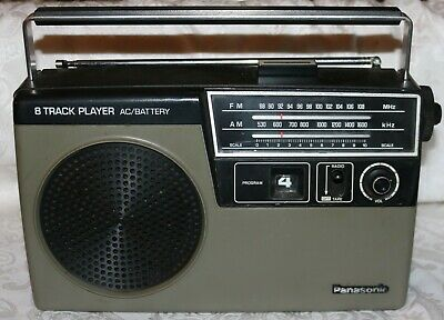 Vintage Panasonic RQ-832S AM / FM / 8 Track Player - Missing AC Cord - Untested