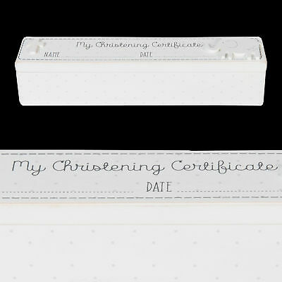 Petit Cheri Collection MDF White 'Christening' Certificate Holder