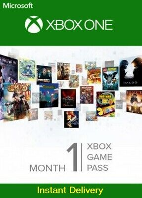XBOX ONE 1 MONTH GAME PASS TRIAL SUBSCRIPTION Instant Delivery