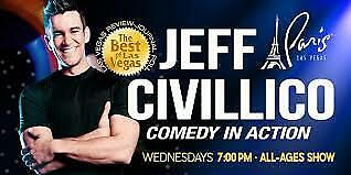 2 Tickets To Jeff Civillico Comedy In Action Show In Las Vegas At Paris Hotel