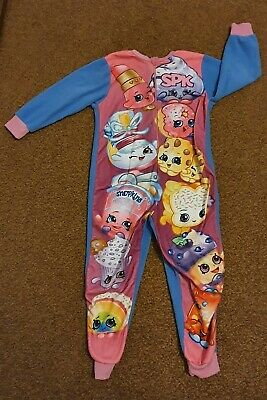Girls Shopkins All-In-One Bodysuit, Mint Condition, Size 7-8 Years!!!