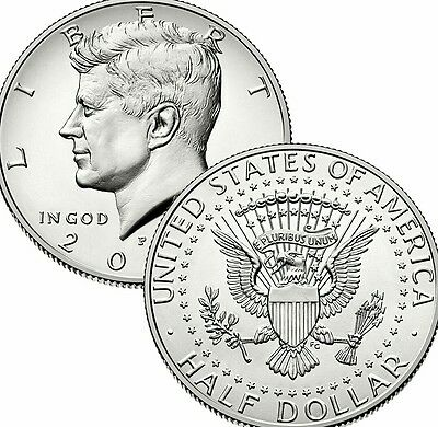 2012 P&D President Kennedy Half Dollar Fifty Cent Coin U.S Mint Roll Collectible