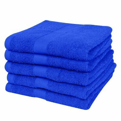 vidaXL Home Bath Towel Set 5pcs Cotton 500gsm 100x150cm Royal Blue Shower