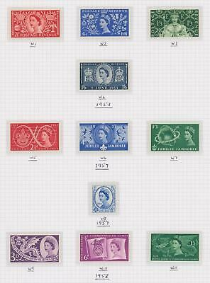 GB 1953-70 Commemoratives (Ord & Phos) Complete MNH on 31 Album Pages
