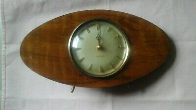 Vintage Retro Westclox Wind Up Mantel Clock For Spares And Repairs