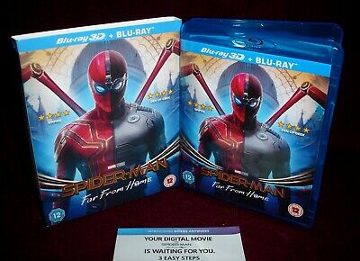 SPIDER-MAN: FAR FROM HOME BLU-RAY + 4K DIGITAL w/ SLIPCOVER REGION FREE *NO 3D*