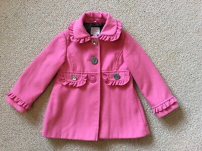 Stunning Girls Pink Lined Coat By Next Size 4-5 Years.