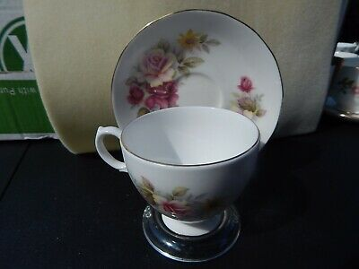 Bone China Tea Set Queen Anne Made in England D570 Floral With Gold Trim