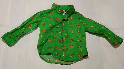 Toddler Boys Dr. Seuss How Grinch Stole Christmas Button Down Shirt Grinch Kids