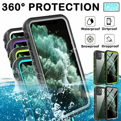For iPhone 11 Pro XS Max XR X 8 Case 360° Waterproof Shockproof Armor Case Cover