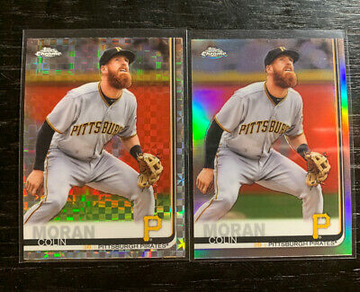 Colin Moran 2019 Topps Chrome #65 Refractor Lot(2) Pittsburgh Pirates