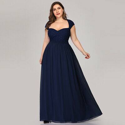Ever-Pretty UK Long Lace Long Evening Dress A-Line Mother Of Bride Cocktail Gown