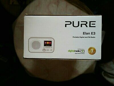 Pure Elan E3 Portable Digital DAB/DAB+ and FM Radio with Alarm - Grey