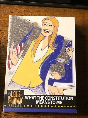 Lights of Broadway What The Constitution Means To Me Card From The 2019 Series