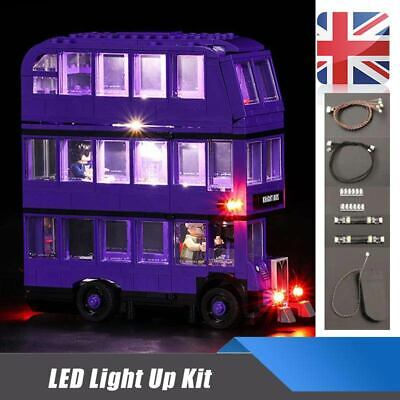 UK LED Light Up Kit For LEGO 75957 The Knight Bus Lighting Set building kit Bus