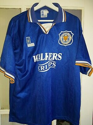Vintage 92/94 Leicester city Home Shirt 42/44 Inch walker crisps Good condition