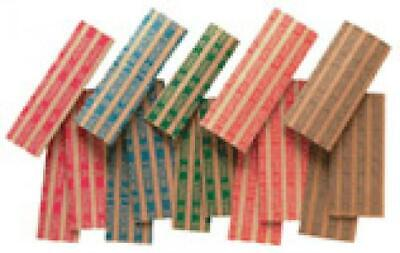 Assorted Kraft Flat Coin Wrappers For Cent Through Small Dollar Pack of 150 Gift