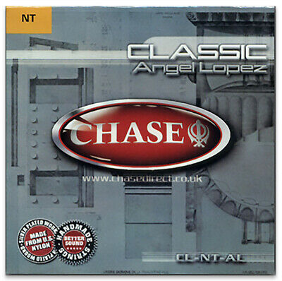 Chase Nylon Classical Guitar Strings - Clear & Silver Wound Normal Tension
