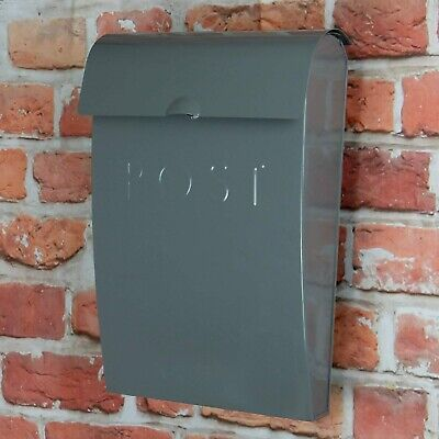 Wall Mounted Letter/Postbox Outdoor Mail Home Box Lockable Steel Weatherproof