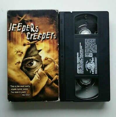 Jeepers Creepers VHS 2001 - Gina Philips - Justin Long horror