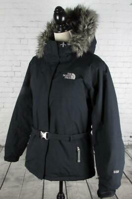 Ladies The North Face 550 Down Filled Parka Jacket Coat Quilted Black Large