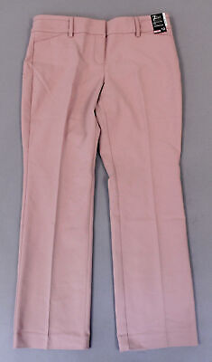 New York & Co Women's Petite Straight Leg Pants SV3 Pink Size 12 NWT
