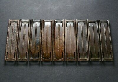 9 pcs. 7.92x57 Turkish Mauser Brass Stripper Clips Dug out Artifacts 8mm Germany