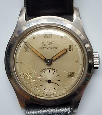 Felca – WWII Military WristWatch – 17J – Antimagnetic – Waterproof – 1940s
