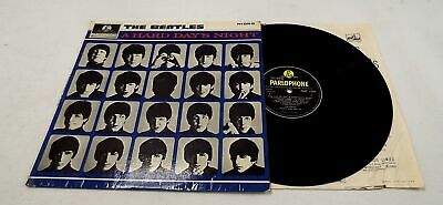 THE BEATLES 'A Hard Day's Night' Vinyl LP In Flipback Black/Yellow Labels - R27