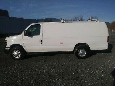 2011 Ford E350 5.4L V8 Cargo Van with Metal Shelving