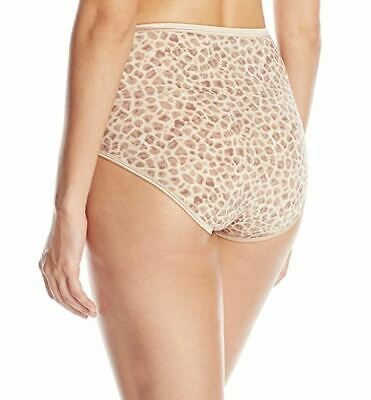 Size 6 Vanity Fair 13109 Brief Illumination Panties Serengeti Animal Print NEW