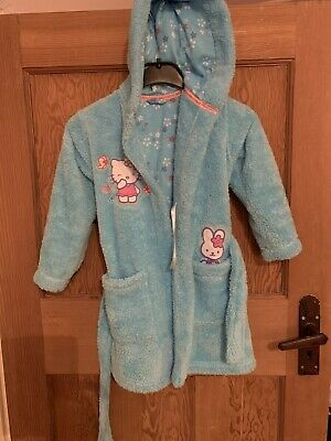 Girls Hello Kitty Dressing Gown 3-4 Years Old