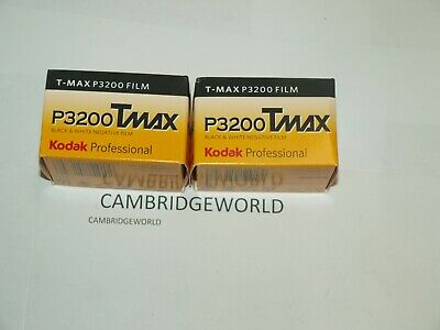 Kodak TMZ 135-36 T-MAX P3200 FRESH Black and White 35mm Film 2 rolls in BOX TMAX