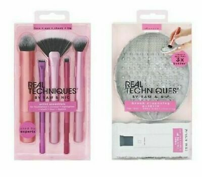 Real Techniques By Sam & Nic Brush Set + Cleaning Palette+ Gel Artist Essentials