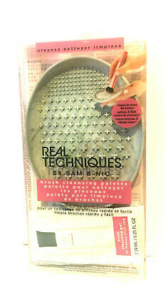 Original Real Techniques By Sam & Nic Brush Cleaning Palette+Brush Cleaning Gel