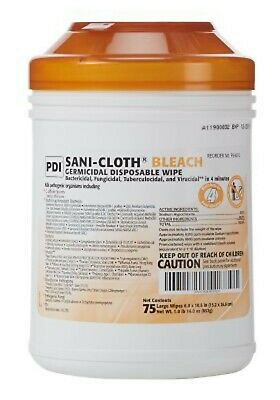 3 Canisters Surface Disinfectant Cleaner Sani-Cloth Bleach Wipes, Disposable