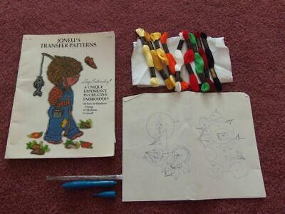 Punch Embroidery Kit ~ Pattern Book, Floss, Practice Cloth, Punch Needle