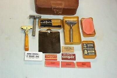 Vintage Gillette Safety Razor F2,PLUS BIG LOT STUFF,CELLULOID BOXES