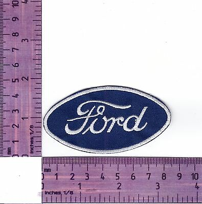 Ford Bonnet Badge Cusso T/'bird F Embroidered Badge Cloth Patch  Iron or Sew on