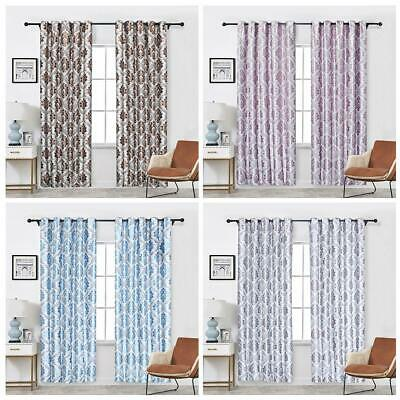 Shading Window Double-layer Blackout Curtain Drapes For Living Room Polyester