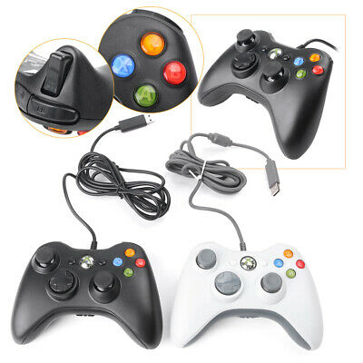 Wired Game Controller Gamepad For PC Games & Xbox 360 Microsoft Black/White USB
