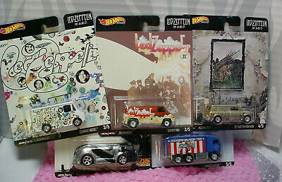 2020 Hot Wheels LED ZEPPELIN complete 5 car set ☆real riders☆ POP CULTURE E