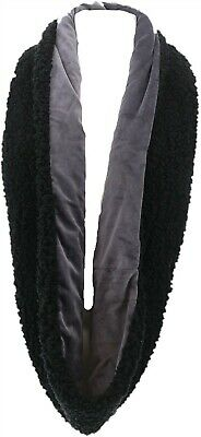 Cuddl Duds Double Plush Velour Faux Sherpa Infinity Scarf Dark Grey NEW A344593