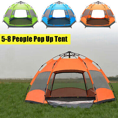 Waterproof 5-8 Person Outdoor Automatic Instant Pop Up Tent Camping Hiking Tent