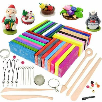 DIY Modelling Polymer Clay Kids Toy 32 Colors Oven Bake with 5pcs Modeling Tools