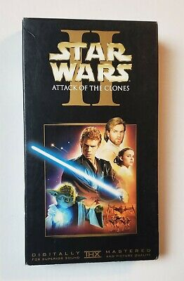 Star Wars Episode II: Attack of the Clones VHS 2002 Special Edition Sci-Fi Saga