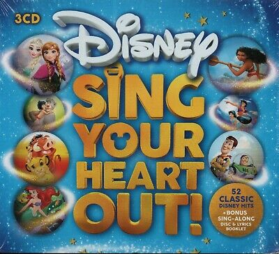 DISNEY: SING YOUR HEART OUT - Various Artists - 3xCD Album *NEW & SEALED*
