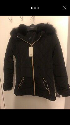 Girls River Island Padded Jacket / Coat Age 9-10 Years